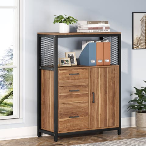 3 Drawers File Cabinet with Letter Size Drawer for Home Ofiice