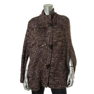 MICHAEL Michael Kors Womens Knit Marled Cape Sweater