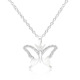 Link to Cubic Zirconia Butterfly Pendant Necklace Similar Items in Fashion Jewelry Store