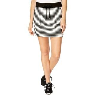 Ideology Women's Fitness Striped Short Skirt, XXL