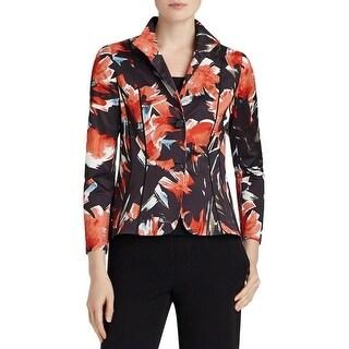Lafayette 148 Womens Debbie Two-Button Blazer Floral Print Collar - 6