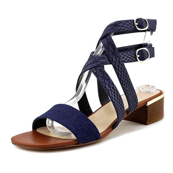 e7dd872160be80 Shop Nine West Yesta Women Open-Toe Synthetic Blue Slingback Sandal ...