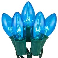 Wintergreen Lighting 67249 25 C9 7W Holiday Bulbs on Green Wire