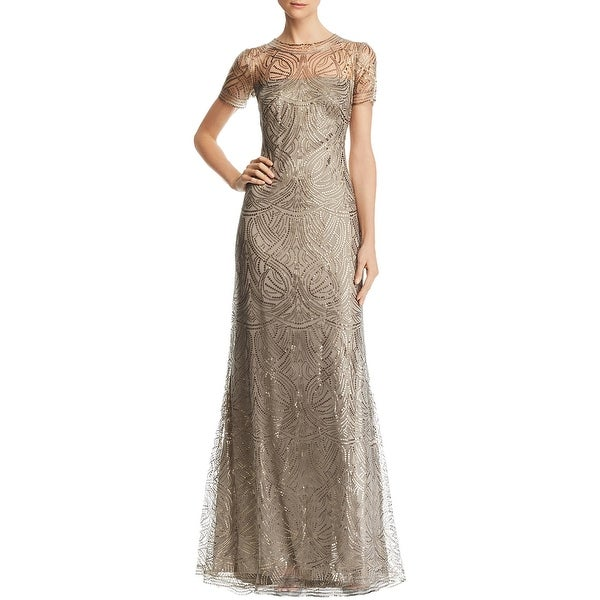 Tadashi Shoji Womens Evening Dress Lace Sequined. Opens flyout.