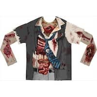 Faux Real F115709 Faux Real Shirts Zombie With Mesh Sleeves - XXL