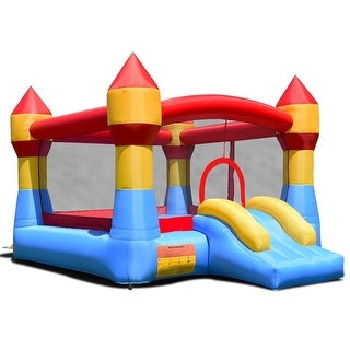 """Link to Inflatable Bounce House Castle Jumper Without Blower - Multi Color - 110.5"""" x 146"""" x 91"""" (L x W x H) Similar Items in Outdoor Play"""