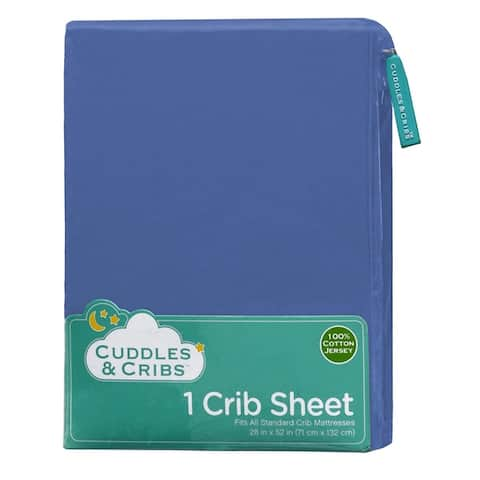 Cuddles & Cribs Cotton Jersey Fitted Crib Sheet GOTS Certified - 28 x 52 Inches