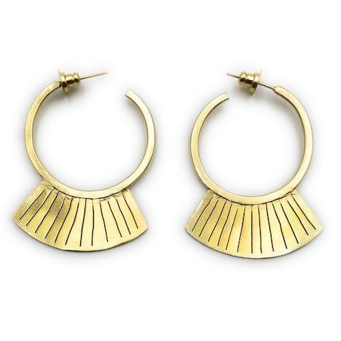 Geometry Gold Earrings