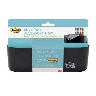 Post-it 1502505 Dry Erase Accessory Tray with Mounting Strips
