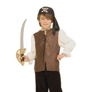Forum Novelties Buccaneer Shirt Child Costume(M) - Brown - Medium