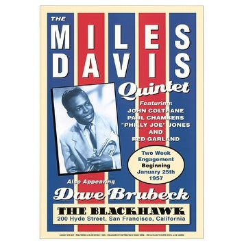 ''Miles Davis Quintet: Blackhawk San Francisco, 1957'' by Anon Jazz Art Print (24 x 17 in.)