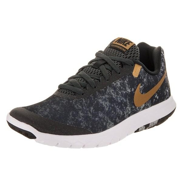 699a85d4567a ... Athletic Shoes. Nike Flex Experience RN 6 Premium Black Metallic  Gold Anthracite White Women