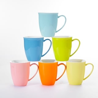 Link to 4.75-In Assorted Colors Porcelain Mugs Teacup Service for 6 Similar Items in Dinnerware