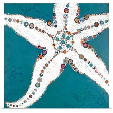 Jennifer Peck Poster Print entitled Star Fish Turquoise