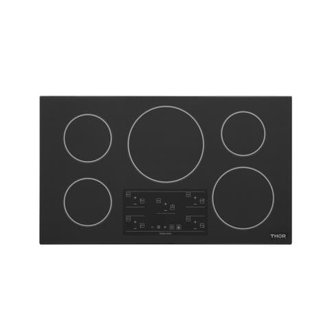 """Thor Kitchen TEC3601I-C2 36"""" Wide 5 Burner Induction Cooktop with Control Lockout"""
