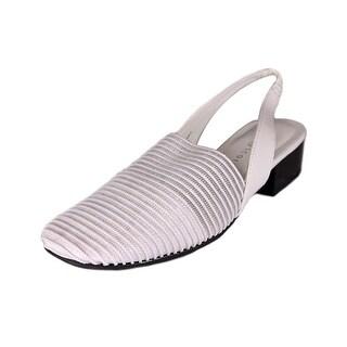 Karen Scott Carolton Women Square Toe Synthetic White Slingback Heel
