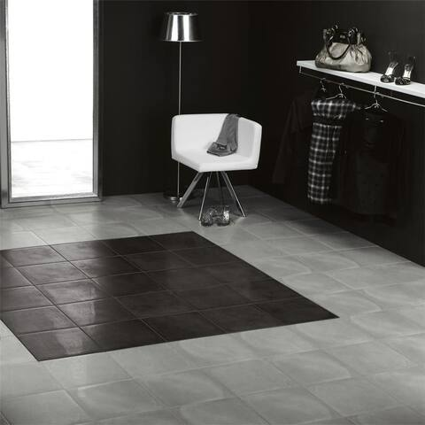 SomerTile 14.125x14.125-inch Symbol Fosc Porcelain Floor and Wall Tile (8 tiles/11.48 sqft.)