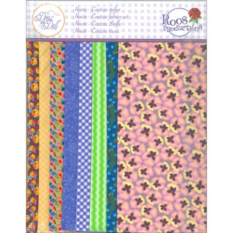 Dress Your Doll Making Couture Fabric Set 8Pc-Violet
