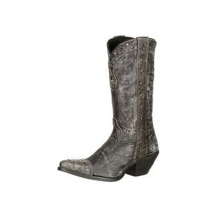 Durango Western Boots Womens Crush Punk Studded Snip Gray DRD0127