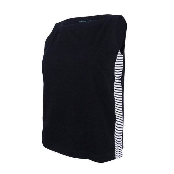 7aed9bbe Shop Lauren Ralph Lauren Women's Striped-Panel Jersey Top - Polo Black - Free  Shipping On Orders Over $45 - Overstock - 23610498