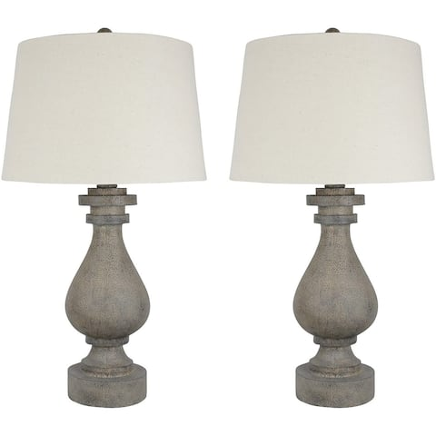 "Set of 2 Cote Table Lamps, 26"" Tall"