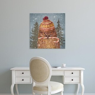 Easy Art Prints Terry Fan's 'Christmas Owl' Premium Canvas Art