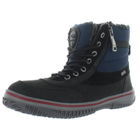 Pajar Mens Gearson Winter Boots Suede Snow - Black/Navy
