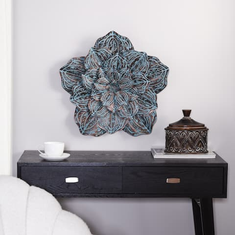 Single Large Flower Blossom Metal Wall Sculpture