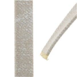Faded Denim Cord, Flat 10x2mm Strand, Sold By The Foot, Beige