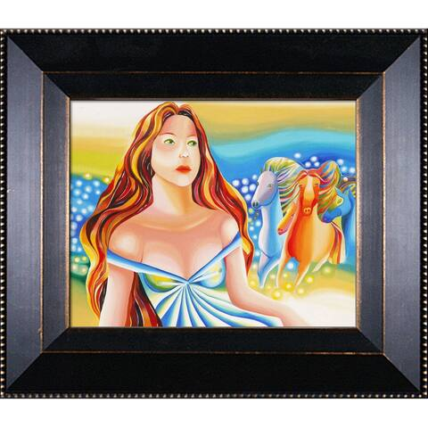 """ArtistBe The Stars Tell You with Veine D'Or Bronze Angled Frame, 13"""" x 15"""""""