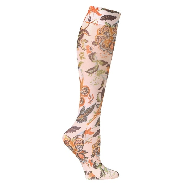 Printed Moderate Compression Knee High Stockings - Women's - Harvest Floral