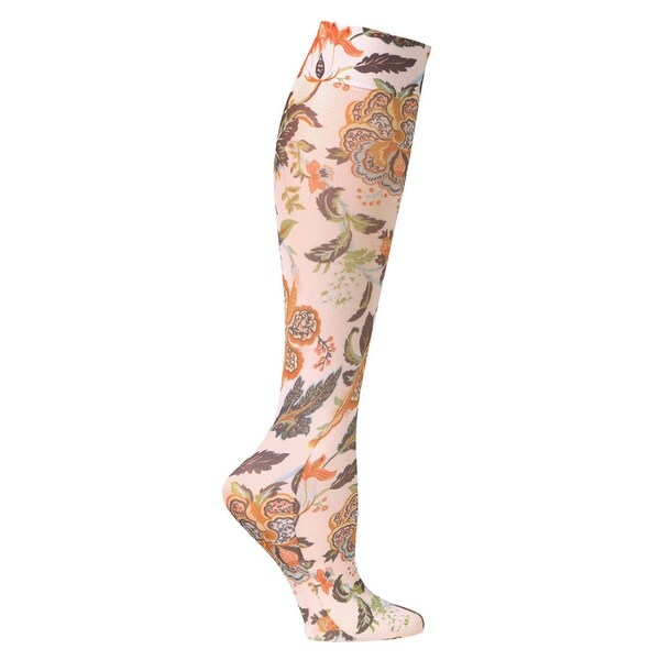 Celeste Stein Women's Mild Compression Knee High Stockings - Harvest Floral - One size
