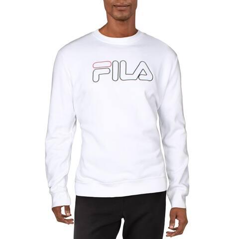 Fila Mens Harlem Sweatshirt Fitness Activewear - White/Black/Red