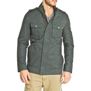 Cole Haan Washed Waxed Cotton Blazer in Anthracite