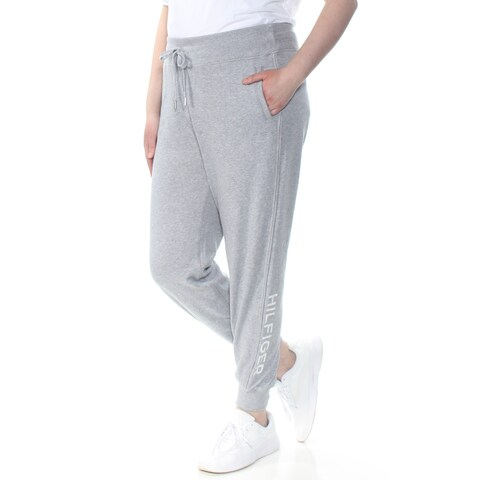 TOMMY HILFIGER Womens Gray Heather Joggers Printed Hilfiger Intimates Pants Size: XXL