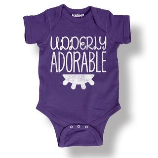 Udderly Adorable Cow Country Funny Living Humor Kid Cute Cool-Infant One-Piece