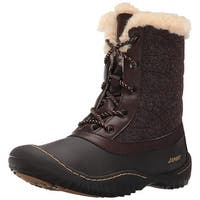 Jambu Womens Autumn Faux Fur Closed Toe Ankle Cold Weather Boots