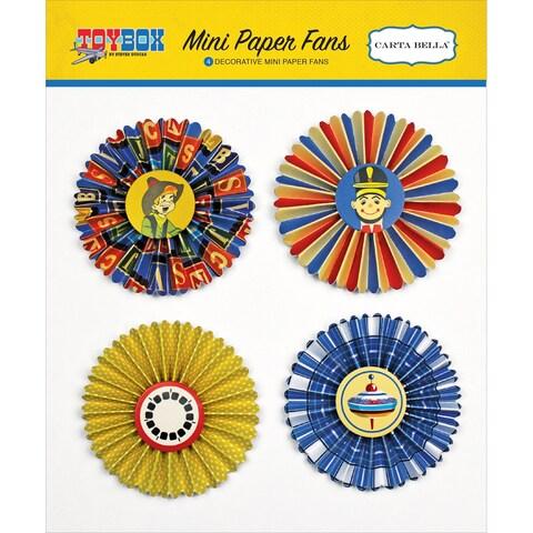 Toy Box Decorative Mini Paper Fans-