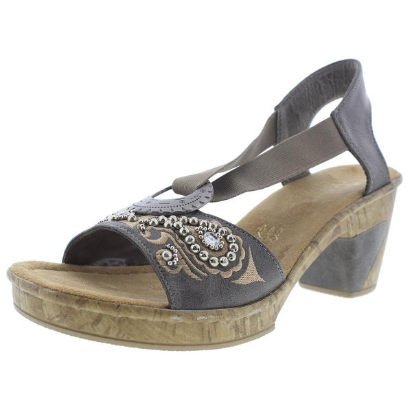 Rieker Womens Embellished O-Ring Slingback Sandals - 8 medium (b,m)