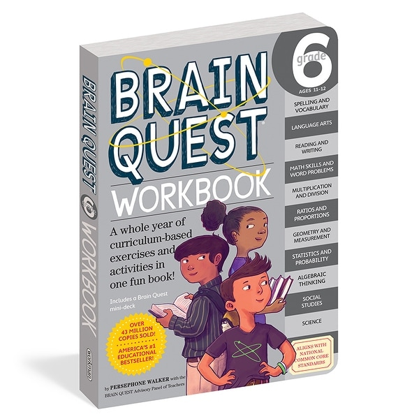 Shop Brain Quest Workbook Grade 6 Free Shipping On