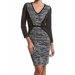 Calvin Klein NEW Gray Women's Size XL Spaced-Dyed Sweater Dress