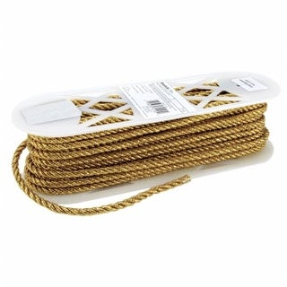 Large Metallic Twisted Cord 1-4 in. Wide 18 Yards-Gold - Case of 18
