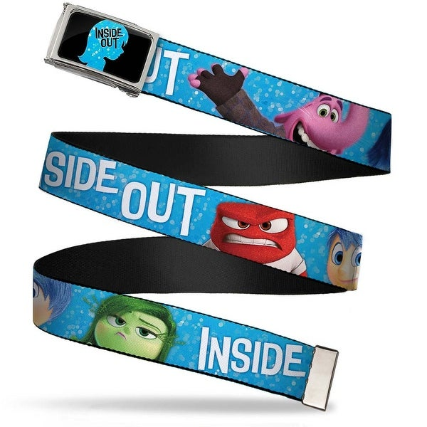Inside Out Riley Silhouette Fcg Black Sparkle Blue Chrome Inside Out 6 Web Belt