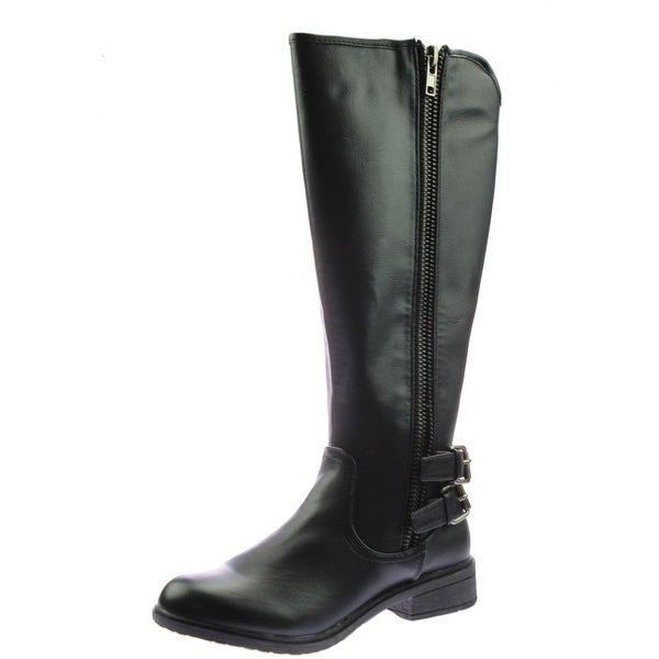 Report Womens Haris Riding Boots Faux Leather Knee-High