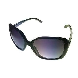 Kenneth Cole Reaction Womens Plastic Sunglass Black / Graduient Lens KC1215 1B - Medium