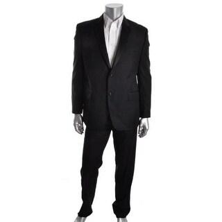 Izod Mens Satin Trim Fitted Tuxedo