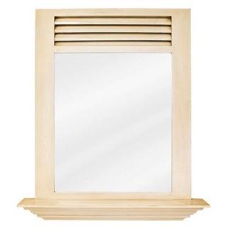 Elements MIR052 Lindley Antique White 25-1/2 x 30 Inch Mirror