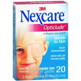 Nexcare Opticlude Orthoptic Eye Patches Regular 20 Each