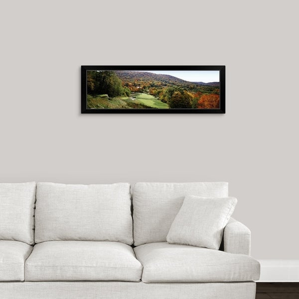 """""""Golf course on a hill, Hawthorne Valley Golf Course, Hawthorne Valley, Salon, Ohio"""" Black Framed Print"""