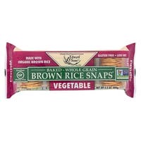 Edward and Sons Organic Vegetable Brown Rice Snaps - Case of 12 - 3.5 oz.